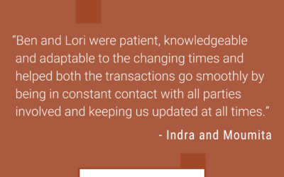 Indra & Moumita: This was our second time partnering with Ben and Lori
