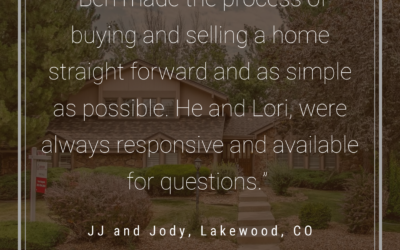 JJ and Jody: Ben is an excellent realtor.